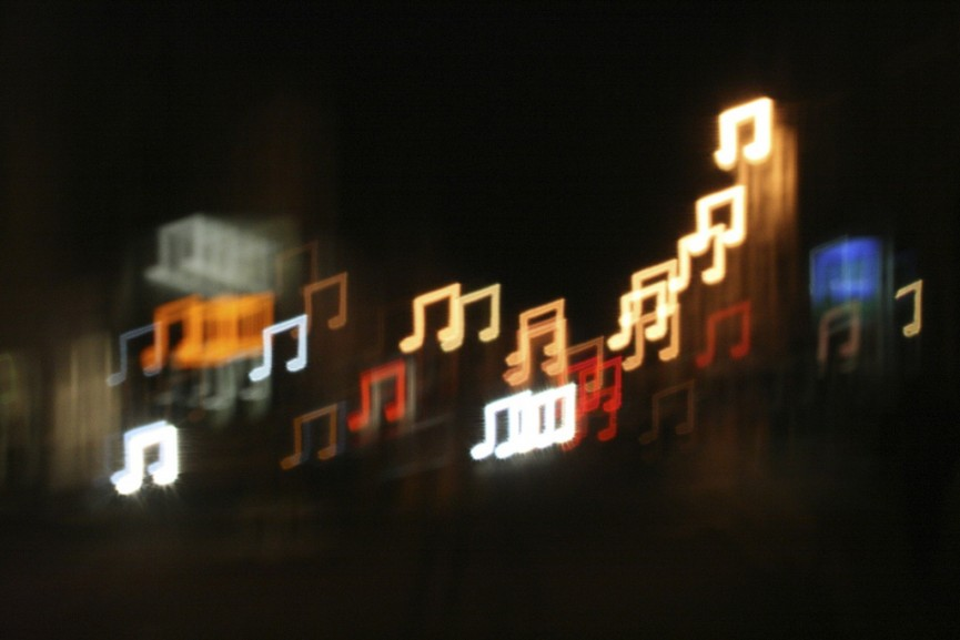 Music Note Bokeh by all that improbable blue