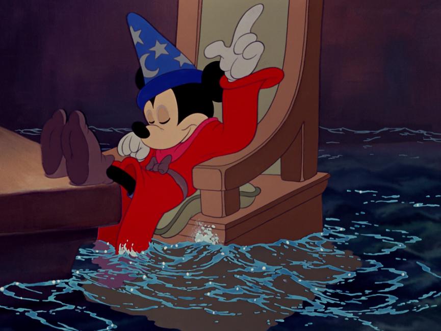 Micky als Zauberlehrling
