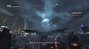 Batman: Arkham City - Flying through the air