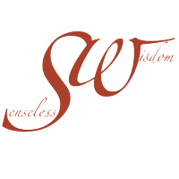 Senseless Wisdom Logo in Gross