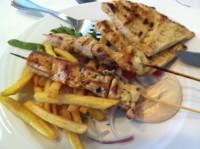 Souvlaki, lecker Essen auf griechisch
