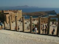 Akropolis Lindos - Viele Touris
