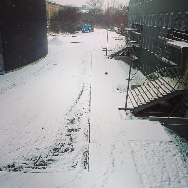 Winter am G40... Zum Glück nicht im G40 :) Aber Zeit wurde es ja auch... - via Instagram