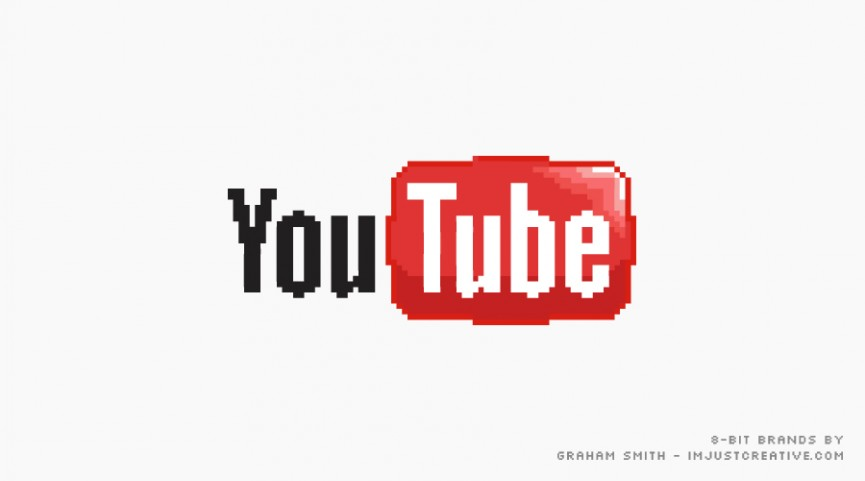 8 bit YouTube Logo von The Logo Smith