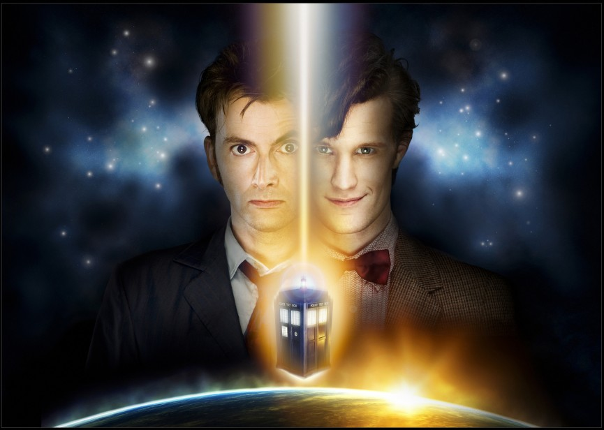 David Tennant and Matt Smith in Doctor Who by Lisby (flickr)