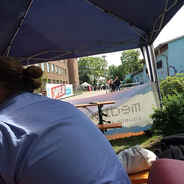 Medienbildung findet im Schatten statt! #campusday14 - via Instagram