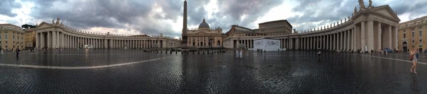 Der Petersplatz, frisch gewaschen