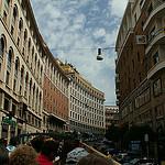 im Bus auf der Via Barberini