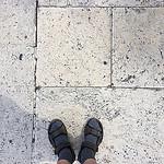 Meine Schuhe auf Peters Platz
