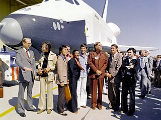 Space Shuttle Enterprise & Star Trek Cast