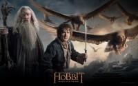 Der Hobbit - der Kampf der fünf Heere - Gandalf, Bilbo, Adler