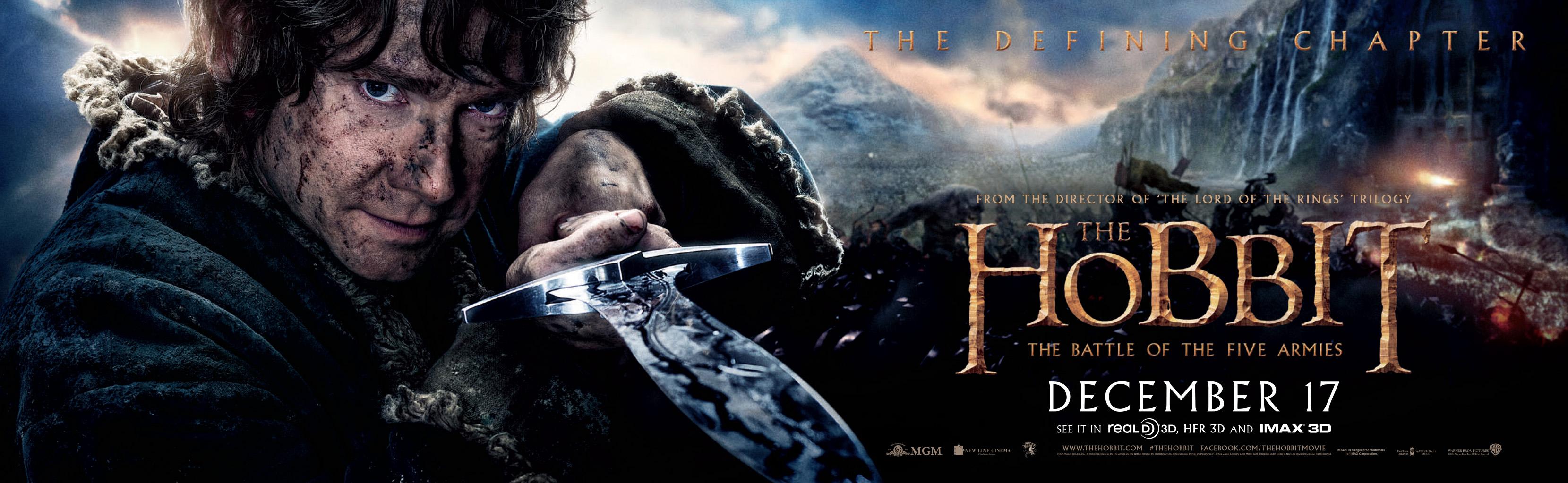 Hobbit - Kampf der drei Heere - Poster lang - Bilbo