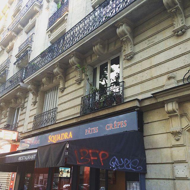 Erster Abend in Paris, die Herren entschieden sich für Pizza, darum kein Foto. - via Instagram