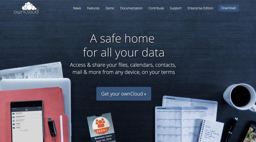 owncloud Homepage