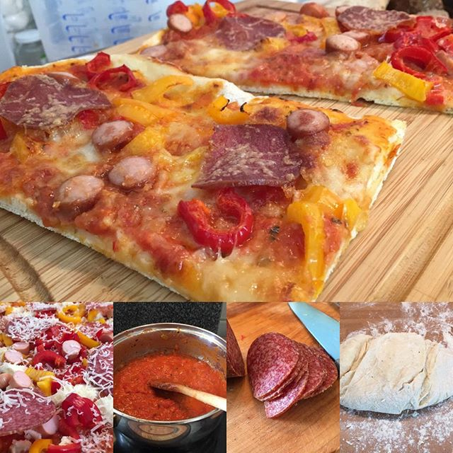 Lecker Pizza gebastelt! <a href='https://www.senselesswisdom.net/tag/foodporn/' rel='tag'>#foodporn</a> - via Instagram