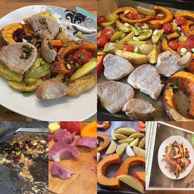 Schweinefilet mit Kürbiskern-Sultaninen- Topping #hellofresh <a href='https://www.senselesswisdom.net/tag/foodporn/' rel='tag'>#foodporn</a> - via Instagram