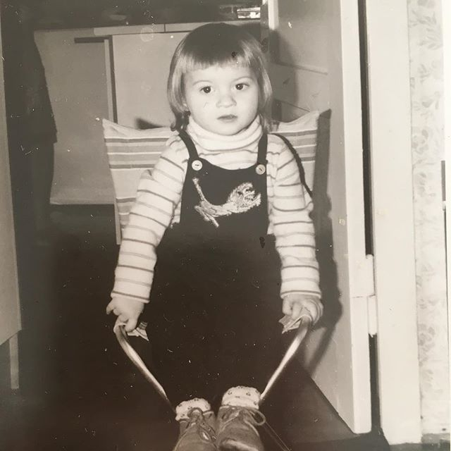 Believe it or not, this was me at 3 or 4 years #throwbacksunday - via Instagram
