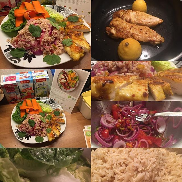 Tandoori-Hähnchen mit pikantem Reissalat #hellofresh #dinner #hellofresh  Mahlzeit! - via Instagram