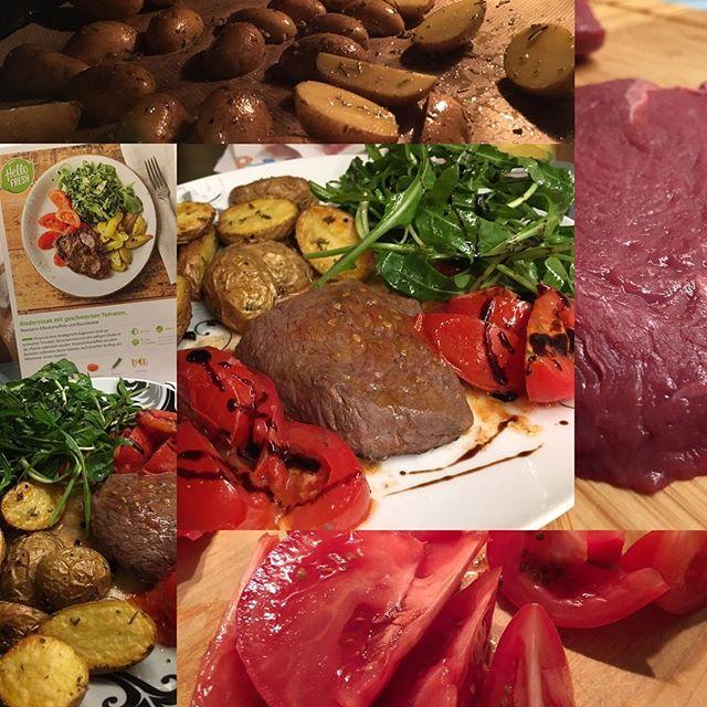 Rinderfilet mit geschmorten  und Rucolasalat <a href='https://www.senselesswisdom.net/tag/foodporn/' rel='tag'>#foodporn</a> #dinner - via Instagram