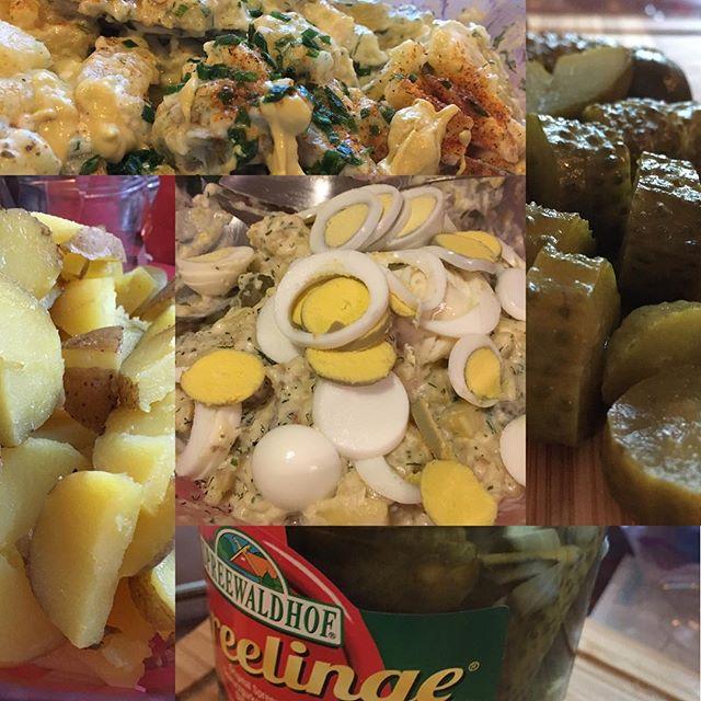 Kartoffelsalat für heute Abend <a rel=