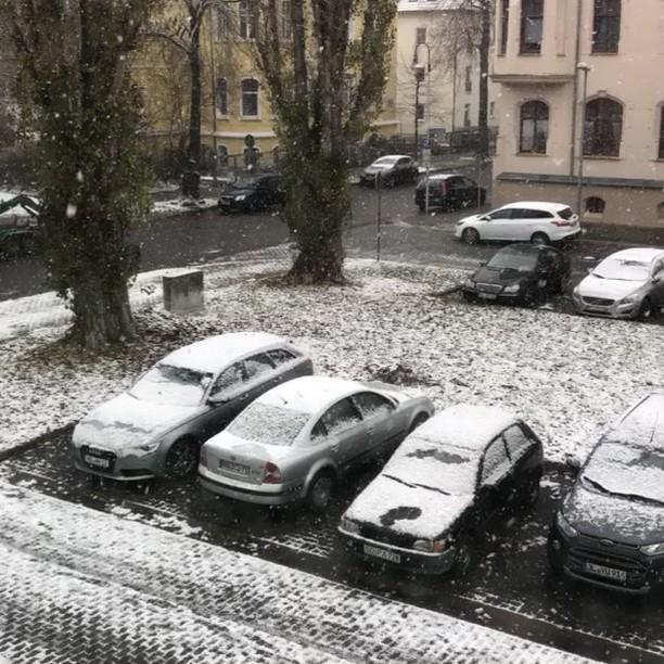 Hatte jemand Schnee bestellt? #firstsnow - via Instagram